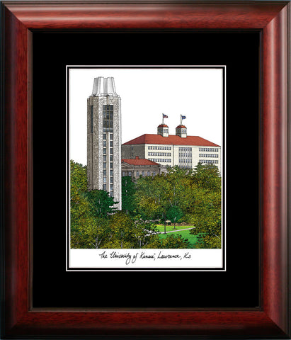 University of Kansas Academic Framed Lithograph