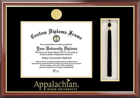 Appalachian State University 11w x 8.5h Tassel Box and Diploma Frame
