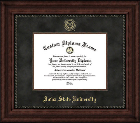 Iowa State University 11w x 8.5h Executive Diploma Frame