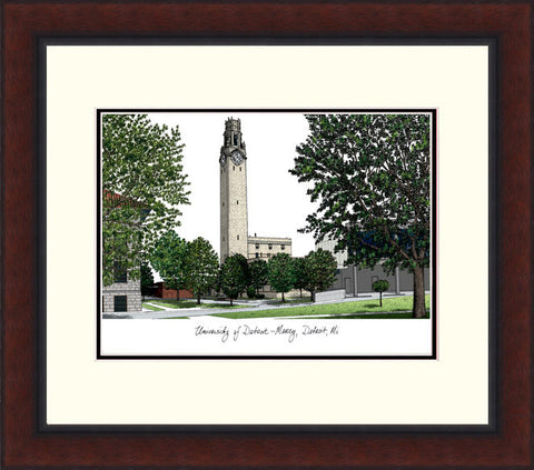University Of Detroit, Mercy  Legacy Alumnus Framed Lithograph