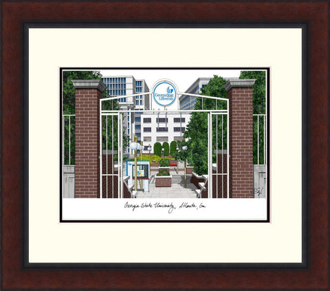 Georgia State University Legacy Alumnus Framed Lithograph