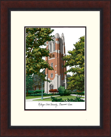 Michigan State University, Beaumont Hall Legacy Alumnus Framed Lithograph