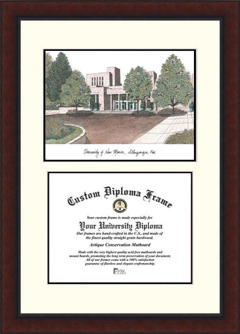 University of New Mexico 11w x 8.5h Legacy Scholar Diploma Frame