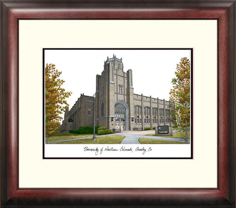 University of Northern Colorado Alumnus Framed Lithograph