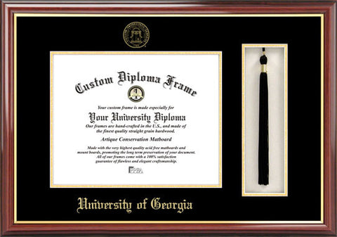 University of Georgia 15w x 12h Tassel Box and Diploma Frame