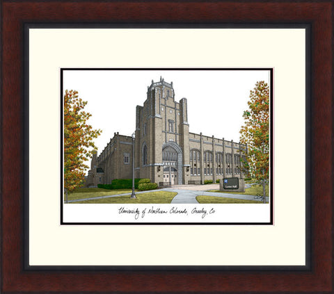 University of Northern Colorado Legacy Alumnus Framed Lithograph
