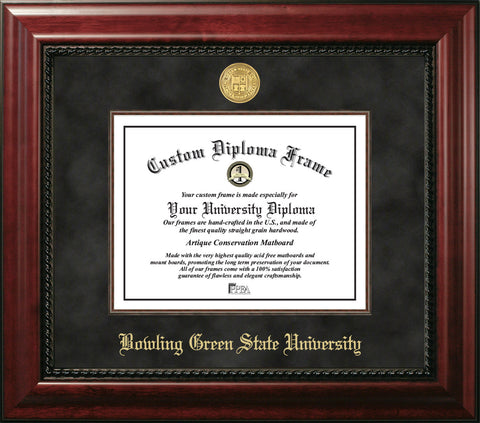 "Bowling Green State University 11""w x 8.5""h Executive Diploma Frame"