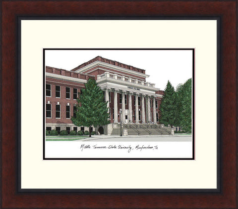 Middle Tennessee State Legacy Alumnus Framed Lithograph