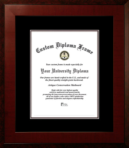 Honors Mahogany, Double Black Mats-Certificate Frame