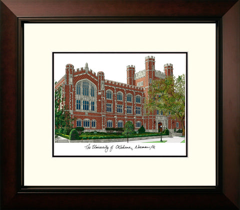 University of Oklahoma Legacy Alumnus Framed Lithograph