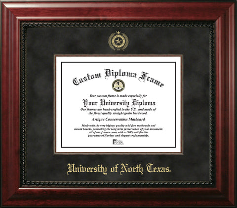 University of North Texas Executive Diploma Frame