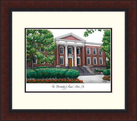 University of Akron Legacy Alumnus Framed Lithograph