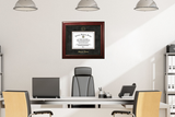 University of Iowa 11w x 8.5h Executive Diploma Frame