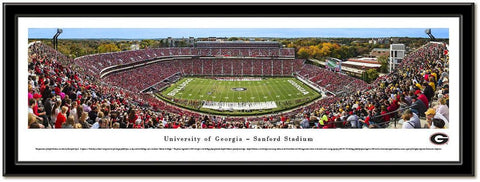 University of Georgia -Sanford Stadium Night Lights Framed Print