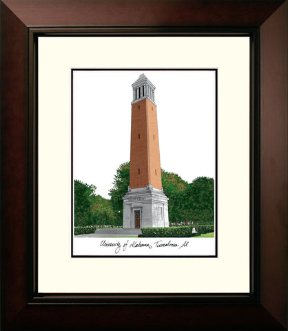 University of Alabama, Tuscaloosa Legacy Alumnus Framed Lithograph