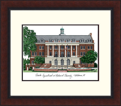 Florida A&M University Legacy Alumnus Framed Lithograph