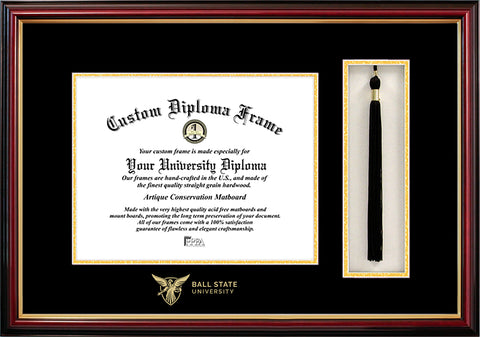 Ball State University  10w x 8h Tassel Box and Diploma Frame