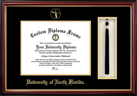 University of North Florida 11w x 8.5h Tassel Box and Diploma Frame