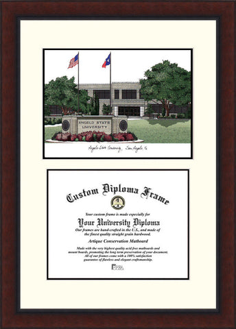Angelo State University 14w x 11h Legacy Scholar Diploma Frame
