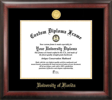 University of Florida 16w x 11.5h Gold Embossed Diploma Frame