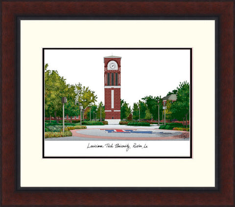 University of Louisiana-Lafayette Legacy Alumnus Framed Lithogrpah
