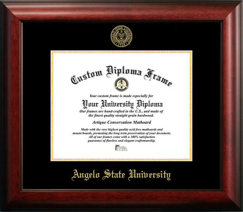 Angelo State University 14w x 11h Gold Embossed Diploma Frame