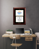 Gold Embossed Diploma Frame with Campus Images Lithograph