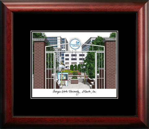Gerogia State Academic Framed Lithograph