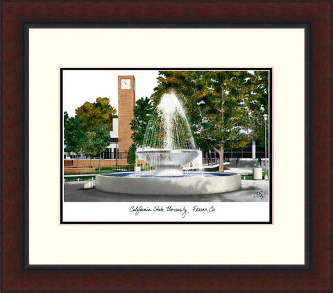 Cal State Fresno Legacy Alumnus Framed Lithograph