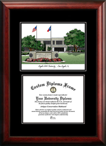 Angelo State University 14w x 11h  Diplomate Diploma Frame