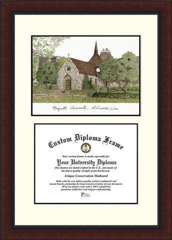 Marquette University Legacy 12w x 9h Scholar Diploma Frame