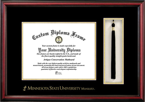 Minnesota State University, Mankato 11w x 8.5h Tassel Box and Diploma Frame
