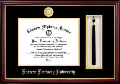 Eastern Kentucky 11w X 8.5h Tassel Box and Diploma Frame