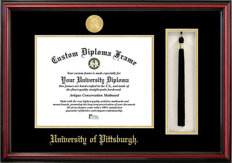 University of Pittsburgh 11w x 8.5h Tassel Box and Diploma Frame