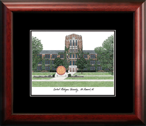 Central Michigan University Academic Framed Lithograph