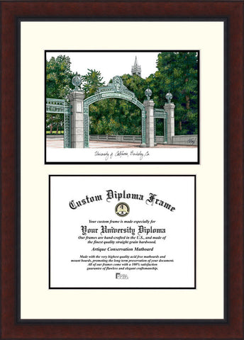 University of California, Berkeley 11w x 8.5h Legacy Scholar Diploma Frame