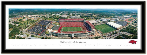 Arkansas Razorbacks Framed Stadium Print