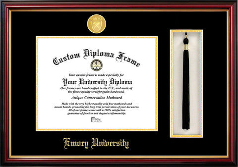 Emory University 17w x 14h Tassel Box and Diploma Frame