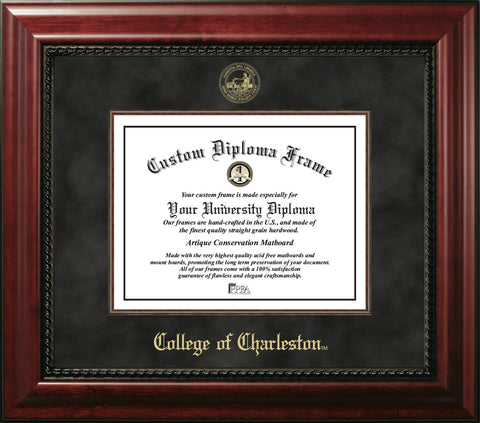 College of Charleston 16w x 20h Executive Diploma Frame