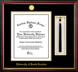 University of South Carolina 11w x 14h Tassel Box and Diploma Frame