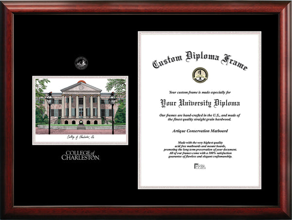 College Of Charleston 16w X 20h Silver Embossed Diploma Frame With Cam Ci Frames