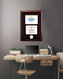 University of Arkansas 11w x 8.5h Spirit Graduate Diploma Frame with Campus Images Lithograph