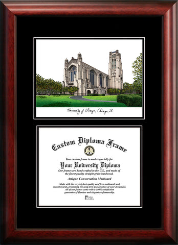 University of Chicago Diplomate 12w x 9h Diploma Frame