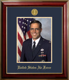 Air Force 8x10 Portrait Classic Frame with Gold Medallion