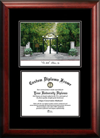 University of Georgia 15w x 12h Diplomate Diploma Frame