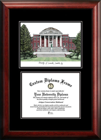University of Louisville 17w x 14h Diplomate Diploma Frame