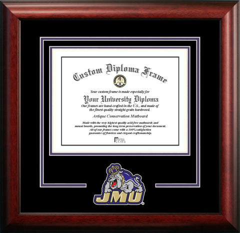 James Madison Dukes 16w x 12h Spirit Diploma Frame