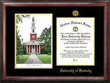 University of Kentucky 11w x 8.5h Gold Embossed Diploma Frame with Campus Images Lithograph