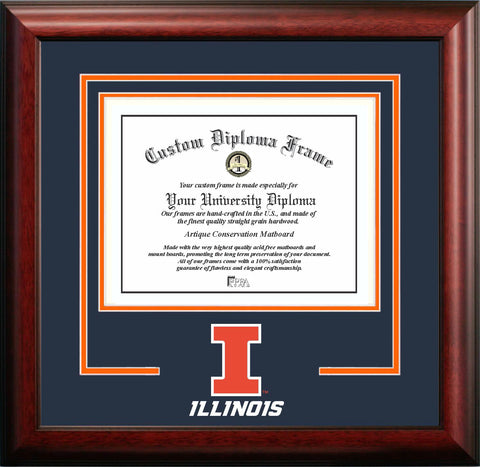 University of Illinois Fighting Illini 11w x 8.5h Spirit Diploma Frame