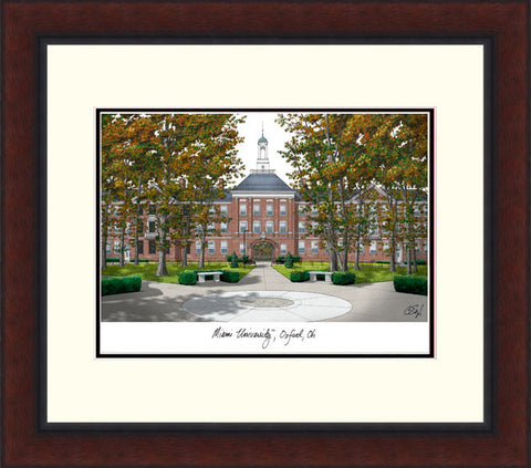 Miami University Ohio Legacy Alumnus Framed Lithograph